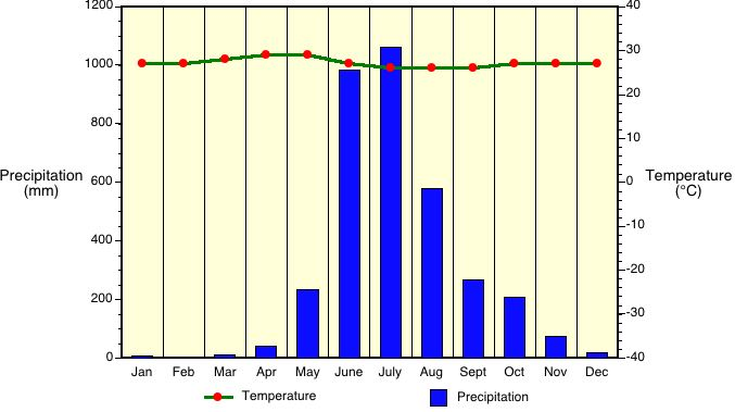 Tropical monsoon climate graph