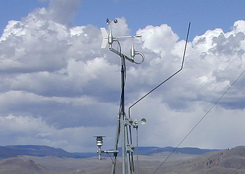 What device is used to measure the wind pressure of a hurricane